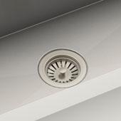 100080 Adjustable 3.5'' Diameter Kitchen Sink Strainer Satin Nickel Finish