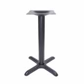 2000-BPS Series Table Bass in Stamped Steel, Table Height, 28-1/4'' High, 22'' W x 22'' D X-Style Base