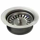 3-1/2'' Basket Strainer with Disposer Trim in Brushed Nickel, 1-5/8''Diameter x 4-1/2''H