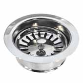 3-1/2'' Basket Strainer with Disposer Trim in Chrome, 1-5/8''Diameter x 4-1/2''H