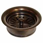 3-1/2'' Basket Strainer with Disposer Trim in Solid Copper, 1-5/8''Diameter x 4-1/2''H
