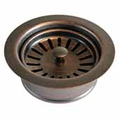 3-1/2'' Basket Strainer with Disposer Trim in Weathered Copper, 1-5/8''Diameter x 4-1/2''H