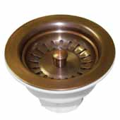 3-1/2'' Basket Strainer in Solid Copper, 2-1/2''Diameter x 4-1/2''H