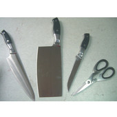 Dawn Sinks Matching Knife Shelf's Stainless Steel Knife and Scissor Set