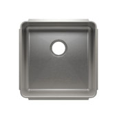 Classic Collection 3258 Undermount 16 Gauge Stainless Steel Single Bowl Kitchen Sink, 19-1/2''W x 19-1/2''D x 10''H