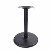 3000-BPS Series Table Base Round Base in Stamped Steel, Table Height, 28-1/4'' High, 22'' Diameter Round Base