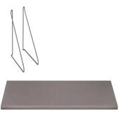 Panola Wall Shelf With Hanging Brackets Steel Grey 31-1/2'' W x 9-3/8'' D