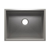 J7® Collection 3972 Undermount 16 Gauge Stainless Steel Single Bowl Utility Sink, 22-1/2''W x 17-1/2''D x 12''H