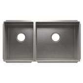 J7® Collection 3983 Undermount 16 Gauge Stainless Steel Double Bowl Kitchen Sink, 32-1/2''W x 17-1/2''D x 10''H