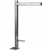 Atlas Floating Vanity support In Cold Rolled Steel, 25''W x 6''D x 37-1/2''H