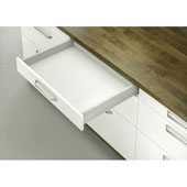 Moovit Matrix Double-Wall Drawer System with Drawer Slide and Side Profiles, Champagne, 110 lbs., 17-11/16'' (450mm)