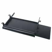Knape & Vogt Economy Pull-Out Keyboard Trays with Integrated Mouse Tray, Black