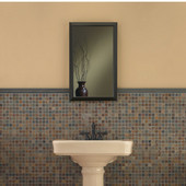 Jensen (Formerly ) Hampton Medicine Cabinet, Oil-Rubbed Bronze Frame, 15-3/4'' W x 5'' D x 25-1/2'' H