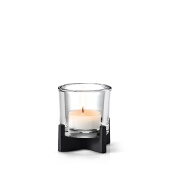 Nero Tabletop Tealight Holder, Black Matte Finish