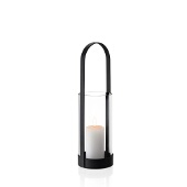 Nero Lantern, Oval Handle, Black Matte Finish, Medium