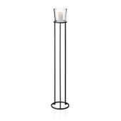 Nero Freestanding Pedestal Candle Holder, Black Matte Finish, Large