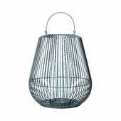 Nidea Lantern Steel Grey Large 17-7/8'' Dia x 20-11/16'' H