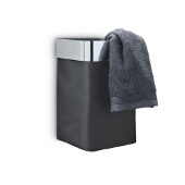 Nexio Towel Basket, Black, Polished