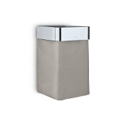 Nexio Towel Basket, Taupe, Polished