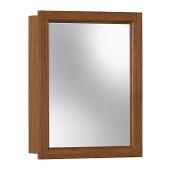 Jensen (Formerly Broan) Sheridan Surface Mount 1 Door Medicine Cabinet w/ Honey Oak Finish, Honey Oak Frame, Particle Board PVC Laminate Construction w/ 1 Fixed Particle Board Shelf, 15''W x 4-3/4 ''D x 19''H