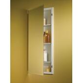 Jensen (Formerly Broan) Horizon Recess Mount 1 Door Medicine Cabinet w/ Basic White Finish, Frameless Mirror, Steel Construction w/ 3 Adjustable Steel Shelves, 16''W x 4-1/2''D x 36''H