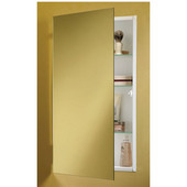 Jensen (Formerly ) Flush Mount Medicine Cabinets, Frameless, with 2 Steel Shelves, 26''H