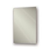 Jensen (Formerly Broan) Focus Recess Mount 1 Door Medicine Cabinet w/ Basic White Finish, Frameless Mirror, Steel Constructionw/ 3 Adjustable Steel Shelves, 16''W x 4-1/2''D x 36''H