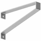 Savona Commercial Bench Bracket In Stainless Powder Coat