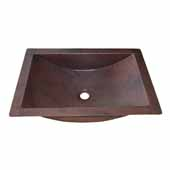 Avila Bathroom Sink in Antique Copper, 21''W x 15''D x 4-1/2''H