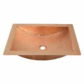 Avila Bathroom Sink in Polished Copper, 21''W x 15''D x 4-1/2''H