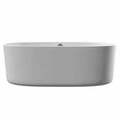 71'' Dolomite Mineral Composite Freestanding Double Ended Tub, 71-1/4''W x 33-1/2''D x 23-1/2''H
