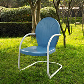 Griffith Metal Chair in Sky Blue Finish, 22''W x 29''D x 34''H
