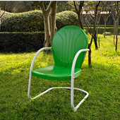 Griffith Metal Chair in Grasshopper Green Finish, 22''W x 29''D x 34''H