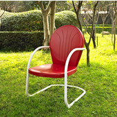 Griffith Metal Chair in Red Finish, 22''W x 29''D x 34''H