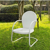 Griffith Metal Chair in White Finish, 22''W x 29''D x 34''H