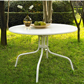 Griffith Metal 40'' Dining Table in White Finish