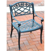 Sedona Cast Aluminum Arm Chair in Charcoal Black Finish, Set of Two