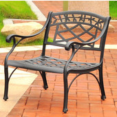 Sedona Cast Aluminum Club Chair in Charcoal Black Finish