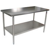 Cucina Tavalo Stainless Steel Work Table, without Backsplash, Available in Numerous Sizes