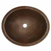 Classic Bathroom Sink in Antique Copper, 19''W x 16''D x 5-1/2''H
