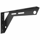 Workstation Bracket In Black, 18''W x 2''D x 10''H