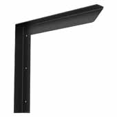 Carolina Heavy Duty Half Wall Counter Support Bracket In Black, 12''W x 2''D x 12''H