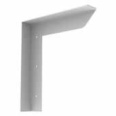 Carolina Heavy Duty Half Wall Counter Support Bracket In White, 9''W x 2''D x 12''H