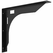 Wall Mounted Desk Bracket In Black, 24-1/2''W x 3''D x 20-3/4''H
