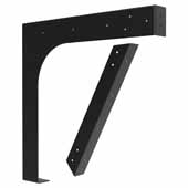 ADA Adjustable Vanity Support In Black, 20''W x 1-5/8''D x 20''H