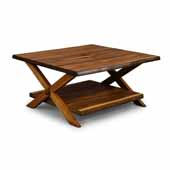 Flexsteel® Forest Retreat Coffee Table In Brown Teak Wood, 36''W x 36''D x 18''H