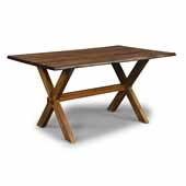 Flexsteel® Forest Retreat Trestle Dining Table In Brown Teak Wood, 60''W x 27-1/2''D x 30-1/2''H