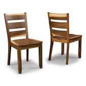 Flexsteel® Forest Retreat Pair Of Side Chairs In Brown Teak Wood, 17-3/4''W x 21''D x 35-3/4''H