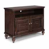 Flexsteel® Southport Entertainment Stand In Dark Brown Aged Oak, 44''W x 18''D x 32''H