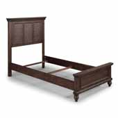 Flexsteel® Southport Twin Bed In Dark Brown Aged Oak, 44-1/2''W x 83-3/4''D x 52''H